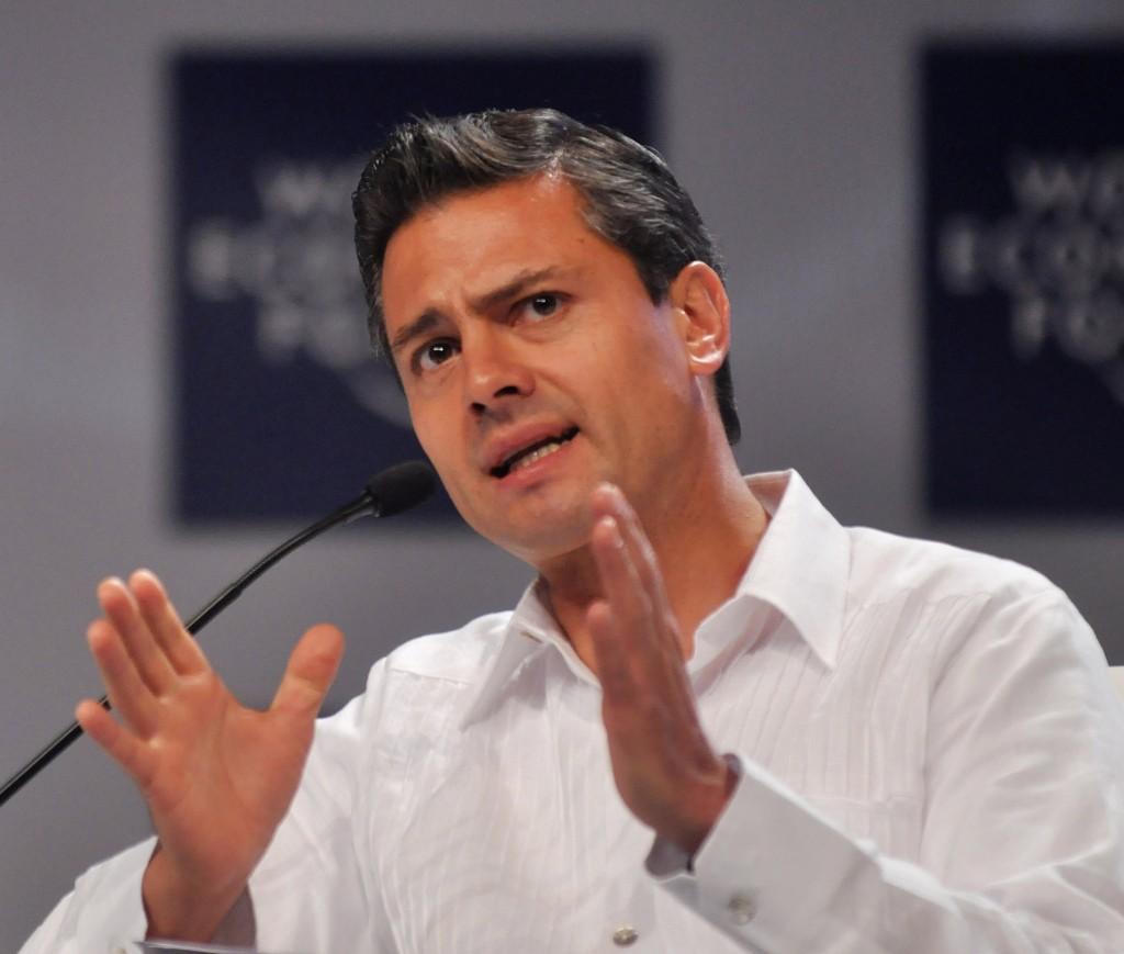 Enrique Peña Nieto au Forum économique Mondial en 2010
