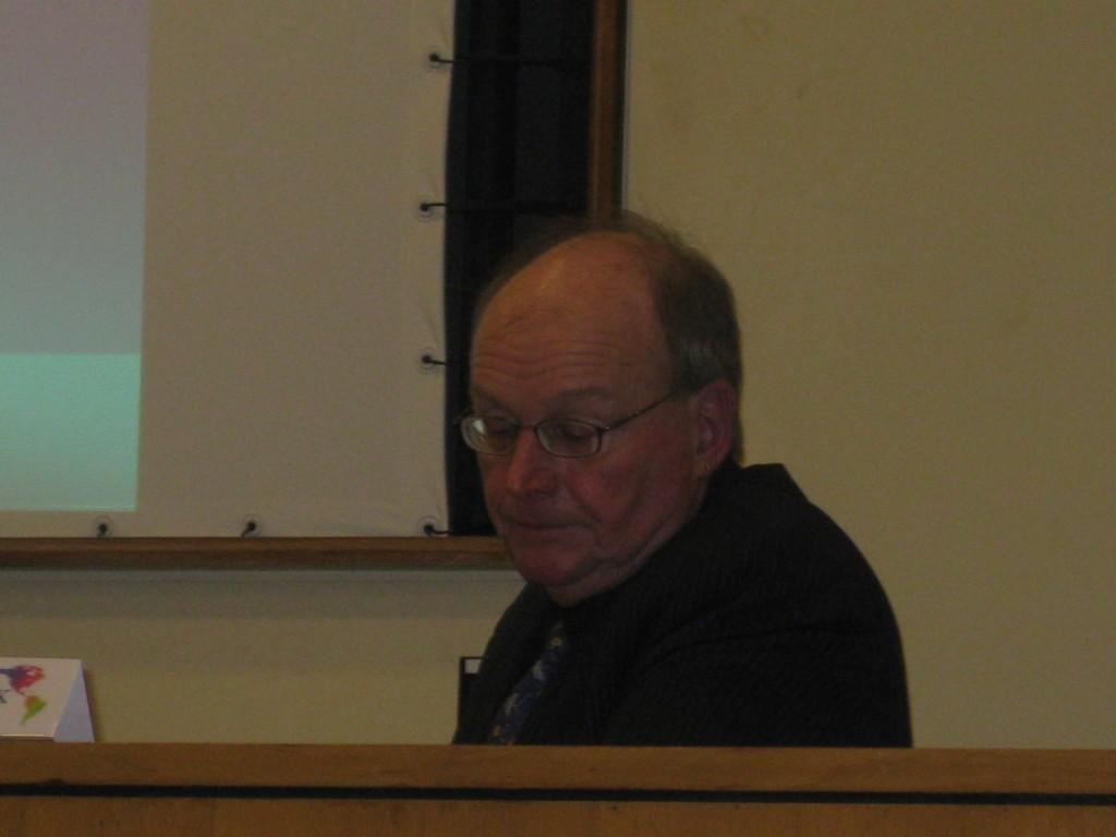 Christian Deblocq, professeur à l'UQAM, à Rennes en novembre 2011