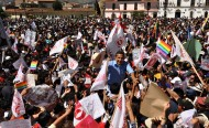 Ollanta Humala acclamé par ses partisans