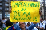 Manifestation récalmant la dehostile à Dilma Rousseff le 15 mars 2015