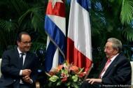 Rencontre à La Havane entre François Hollande et Raul Castro le 11 mai 2015