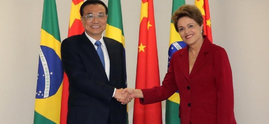 Le premier ministre chinois Li Keqiang au Brésil avec Dilma Rousseff en mai 2015