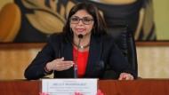 La ministre des Affaires étrangères du Venezuela Delcy Rodriguez  (teleSUR)